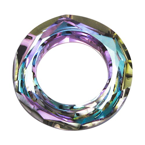 1 pc Swarovski Crystal 4139 Round Cosmic Ring Frame Charm Pendant Vitrail Light 14mm / Findings / Crystallized (4139 Cosmic Ring Pendant)