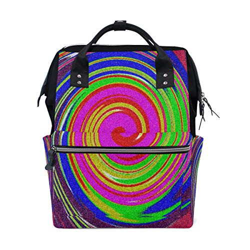 Fashion Diaper Bags Mummy Backpack Groovy Colors Multi Functions Large Capacity Nappy Bag Nursing Bag for Baby Care for Traveling
