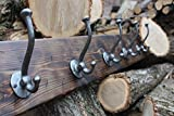Rustic Coat Rack/Barnwood Coat Rack/Farmhouse Coat Rack/Distressed Wood/Hook Rail/Hook Rack/Wall Mounted Coat Rack/Entryway