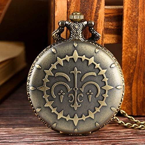 YXZQ懐中時計、ネックレスペンダントクラシック懐中時計レトロブロンズクォーツ懐中時計メンズユニセックスジュエリー時計ギフト