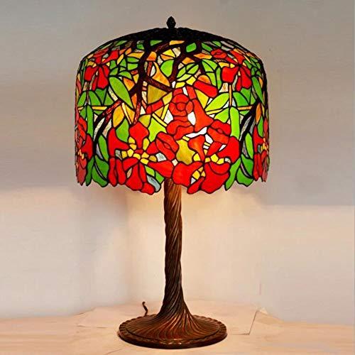 Kwdzlighting Lámpara de sobremesa estilo Tiffany Lámpara de ...