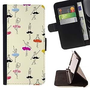 Momo Phone Case / Flip Funda de Cuero Case Cover - Ballerina Dessin Art - Samsung Galaxy S4 IV I9500