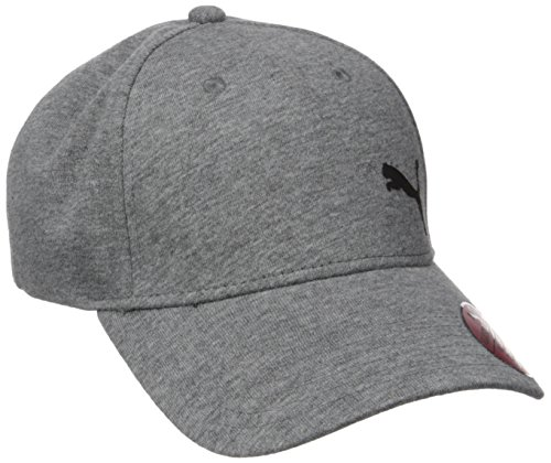 PUMA Men's Evercat Trenton Relaxed Fit Adjustable Cap, Gray/Black, One Size
