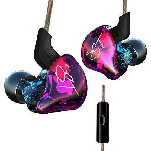 KZ ZST Dynamic Hybrid Dual Driver in Ear Earphones (Colorful with Mic)