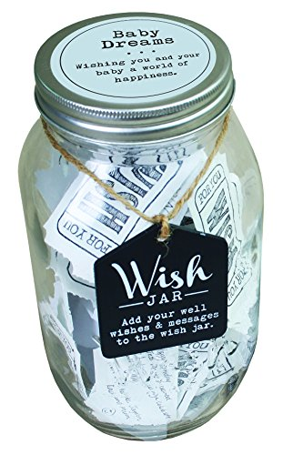 Top Shelf Blue Baby Dreams Wish Jar ; Personalized Gift for a Boy ; Unique and Thoughtful Gift Ideas for Newborns ; Kit Comes with 100 Tickets and Decorative Lid