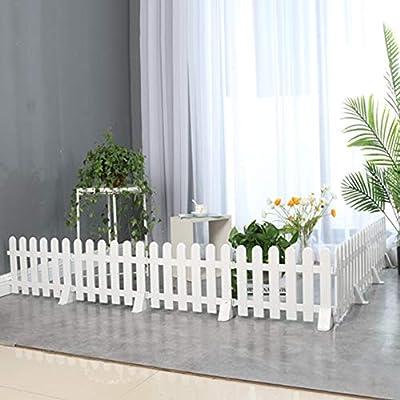 ZHANWEI Valla de jardín Bordura de jardín PVC El Plastico Decorativo Blanco Barandilla Protectora por Interior Patio Villa, 5 Tamaños (Color : 50x30cm, Size : 10 PCS): Amazon.es: Jardín