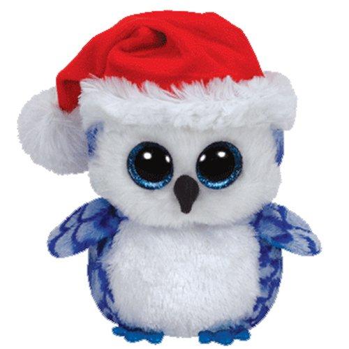Ty Beanie Boos Icicles The Blue Owl Medium Plush (Icicle Stuffed Animal)