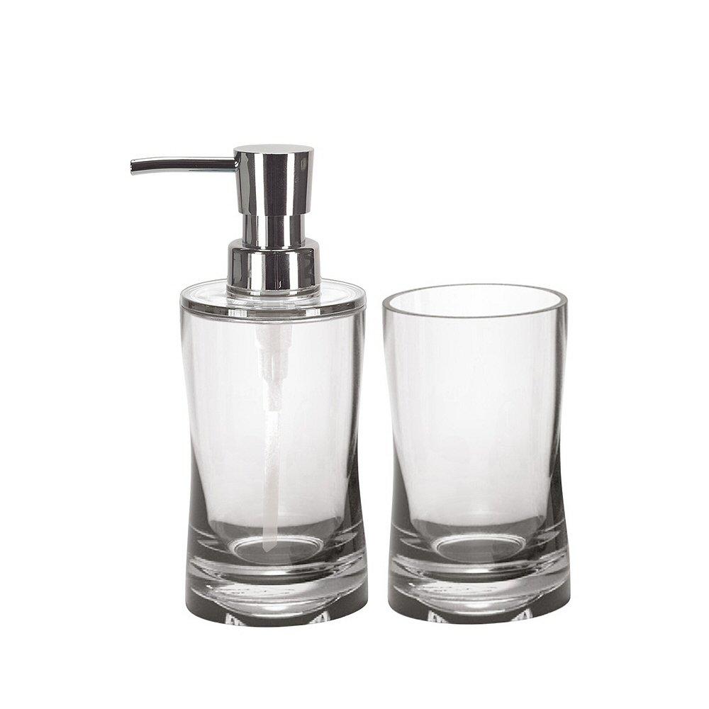 Amazon.com: Bathroom Soap Dispenser Set - 2 Pieces - Liquid Soap ...
