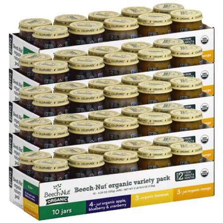 Beech-Nut Organic Variety Pack Stage 2, 5 Set