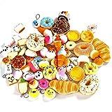 WENHAI 30 Pcs Randomly Style Soft Slow Rising Squishy Bread for Phone Charms Strap Key Bag Chain Squishies Charms