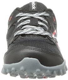 Reebok Explore 67 Running Shoe (Little Kid/Big Kid),Black/Flat Grey/China Red,1 M US Little Kid