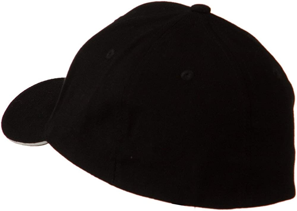 Heavy Weight Fitted Cap Black White W37S53C
