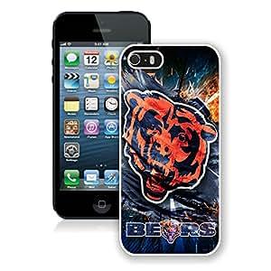 DIY Custom Phone Case For iPhone 5S Chicago Bears 18 White Phone Case For iPhone 5 5s Cover Case