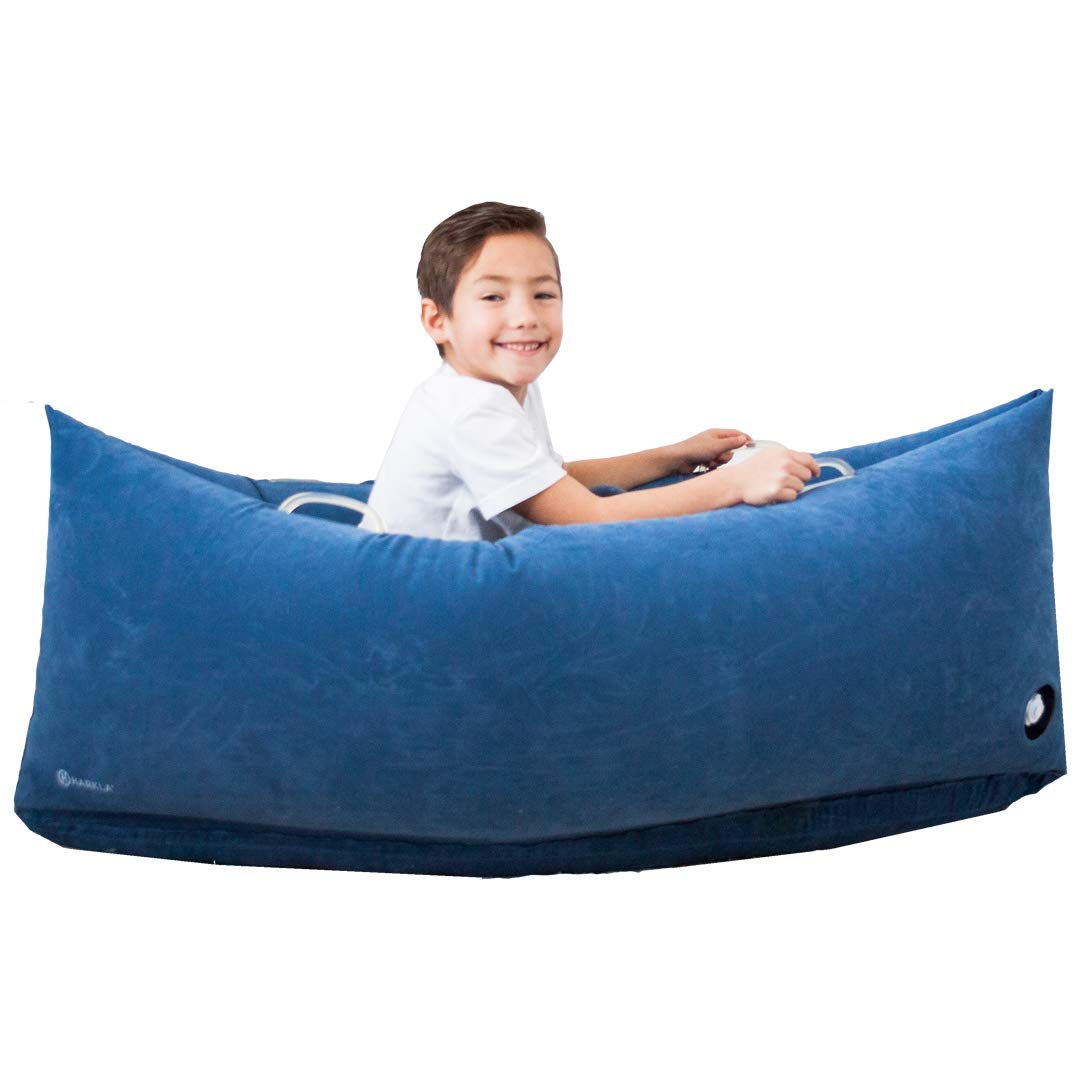Harkla Hug (60 inches) - Inflatable Peapod for Children with Sensory Needs - Great Sensory Product for Ages 6 to 12 - Occupational Therapy Tools, Sensory Chair