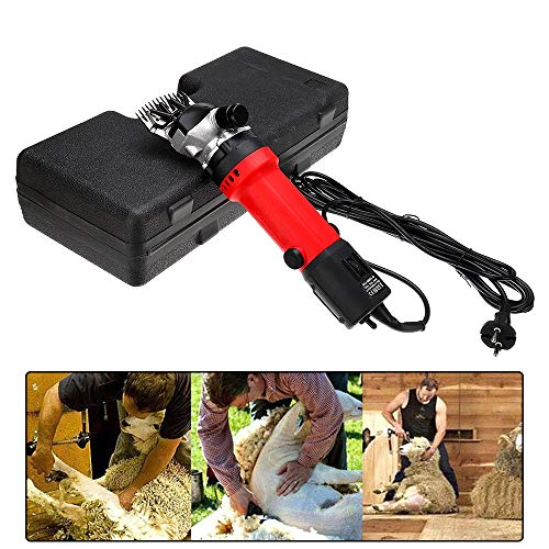 Idle Shaft Gear Type - Professional Electric Sheep Shears Portable Shearing Machine 6 Speed Adjustable For Goat, Sheep, Cattle And Other Pets Shave Grooming Clippers Kit