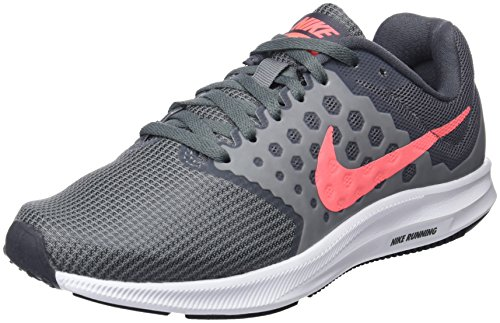 Nike Womens Downshifter 7 Running Shoe (Wide) Cool Grey/Lava Glow/Dark Grey/White Size 9 Wide US