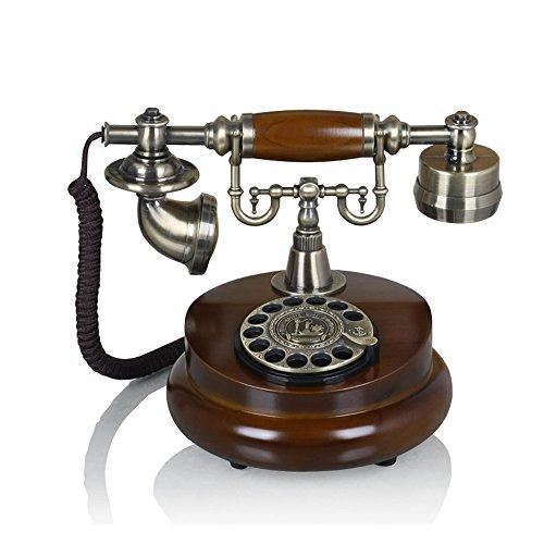 SAN_X Retro Phone European landline/Home Retro Telephone/Old Fashioned Antique Phone/Wood Phone/Style Telephone landline Home Fixed Retro Telephone Vintage Antique Fashion 251720cm from SAN_X