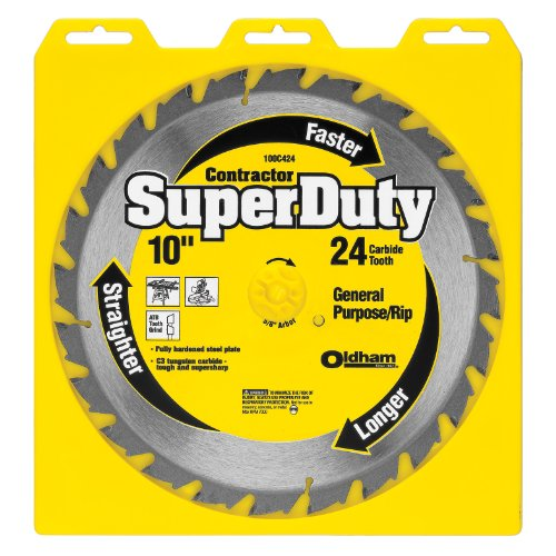 PORTER-CABLE 100C424 10-Inch 24T Carbide Saw Blade Superduty General Purpose