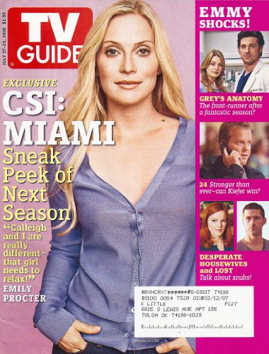 Emily Procter (CSI: Miami), William H. Macy, Hell's Kitchen - July 17-23, 2006 TV Guide - Miami Macy