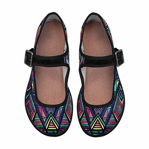 Interestprint Femmes Confort Mary Jane Appartements Casual Chaussures De Marche Multi 1