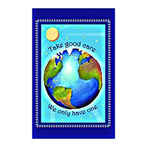 Protect Earth Decorativehouse Flag decorative flags initial flags party flags 12.5 x 18 Inch banner home flags Print flags