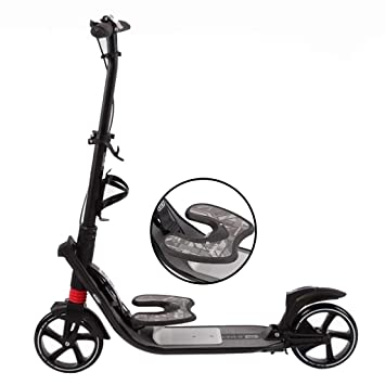 WGE Patinetes Scooter Negro con Pedal for niños niñas ...