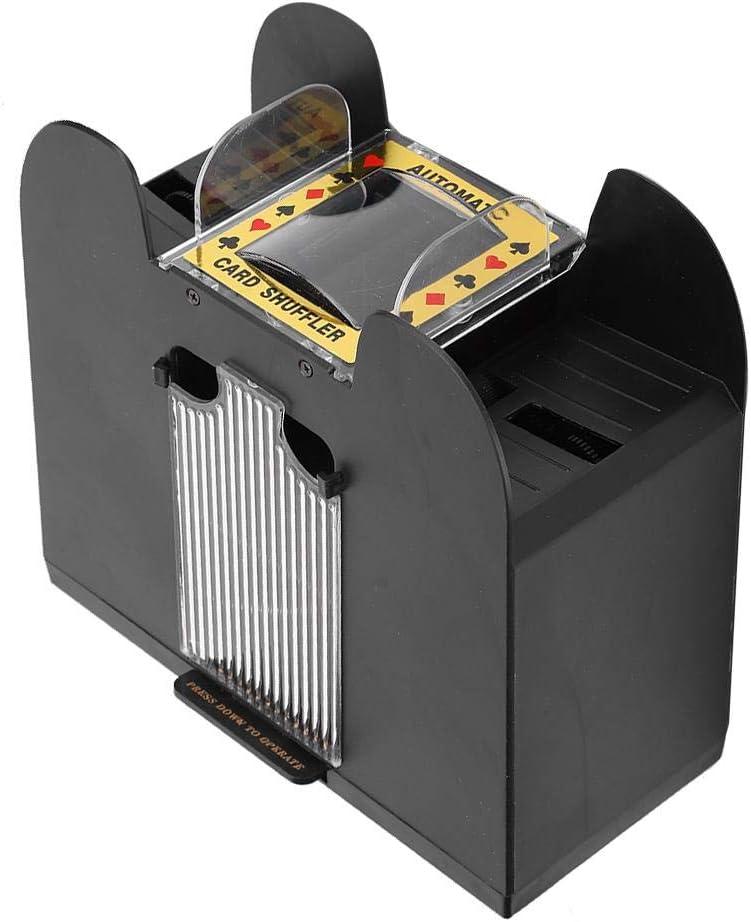 Nunafey Conveniente Confiable Alta eficiencia Pr/áctico barajador de Cartas Barajador de Cartas de baraja 6 Barajador de Barajas de baraja 6 para Juegos de p/óker Familiar Otros Juegos de Cartas