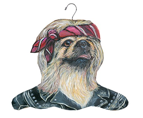 The Stupell Home Decor Collection Pekingese Biker Hanger by The Stupell Home Decor Collection