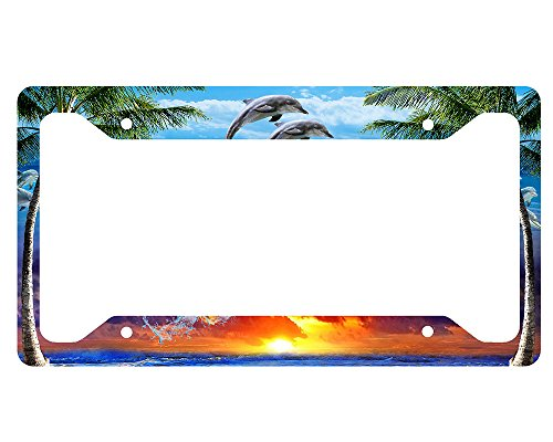 Dolphin License Plate Frames Kritters In The Mailbox