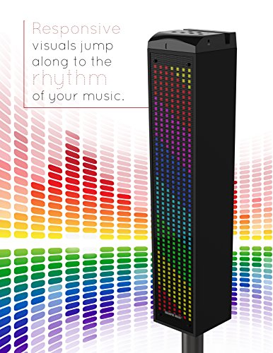 Amazoncom Sharper Image Sbt1014bk Sound Responsive Bluetooth Tower