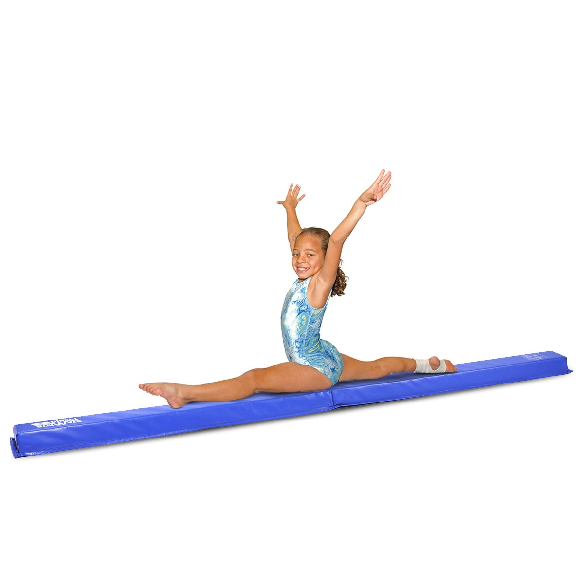 gymmatsdirect Gymnastics Beams for Home, 9' Folding Floor Balance Beam for Kids at-Home Practice, Blue