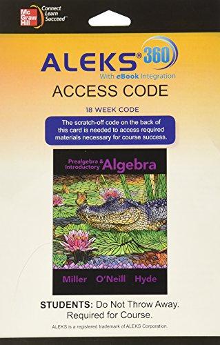 Aleks 360 Prealgebra Access (18 Week)