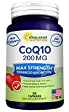 Pure CoQ10 (200 Capsules, High Potency 200mg) – High Absorption CO Q-10 Enzyme Ubiquinone Supplement Pills, Extra Antioxidant Coenzyme Q10 Vitamin Tablets, COQ 10 for Healthy Blood Pressure & Heart Review