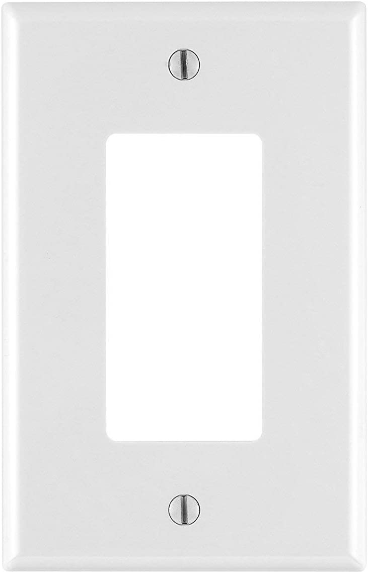 Leviton PJ26-WM 1-Gang Decora/GFCI Wallplate, White, (Includes 3 packs of 10 each, total 30 count)