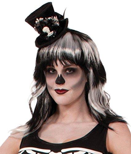 Forum Novelties Women's Skeleton Mini Top Hat, black, One Size ()