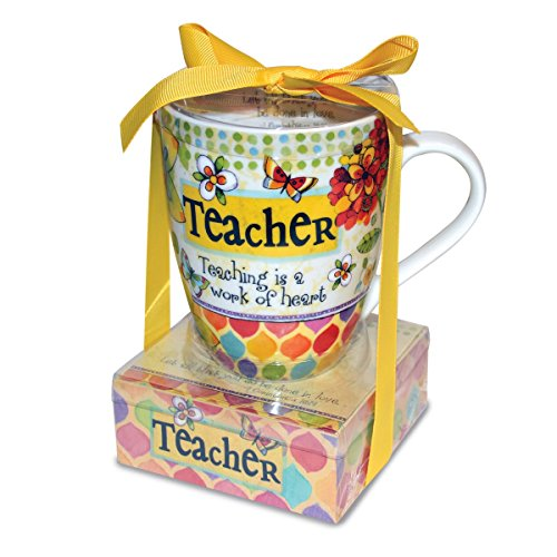 Divinity Boutique 23780 Ceramic Mug And And Memo Pad Teacher, Multicolor