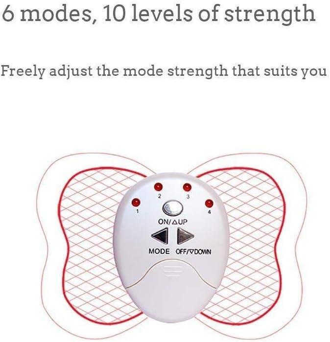 Training Mini Schmetterlings-Form-Heimfitnessger/äte Physikalische Abnehmen fettreduzierende Bauchmuskeln Paste Mikrostrom Massage Schulter und Nacken Physiotherapie Instrument