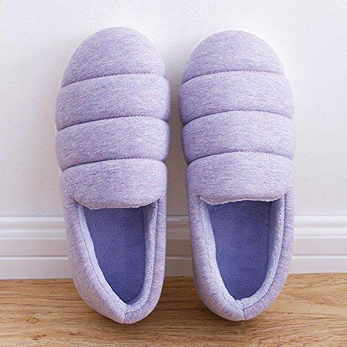 Pantofole Pain43 Pantofola Felpa 44 Scarpe Di Cotone Inverno Imbottito Donne Laxba adatto Purplexl Per All'interno Scivolano 43 Caldo Uomini 42 R60gx