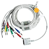 Denshine EKG Cable 10 Leads, Banana 4.0, 10K Resistance For Schiller ECG Machine