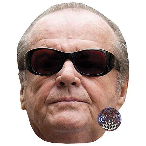Jack Nicholson Celebrity Mask, Card Face and Fancy Dress Mask -