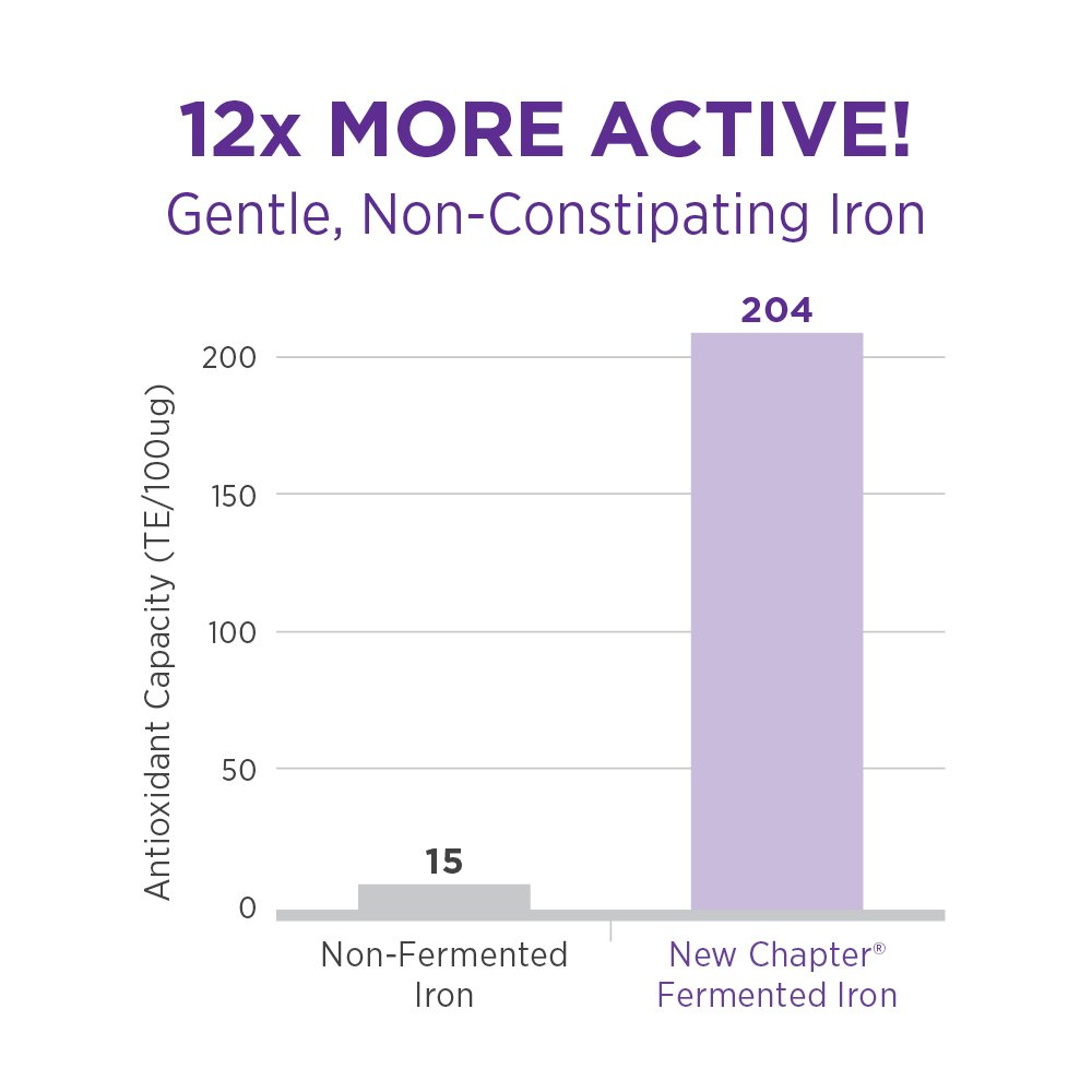 Amazon new chapter iron supplement iron food complex with amazon new chapter iron supplement iron food complex with organic non gmo ingredients 60 ct health personal care hexwebz Choice Image