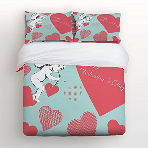 85%OFF Libaoge 4 Piece Bed Sheets Set, Happy Valentineu0027s Day Pink Heart  Shapes