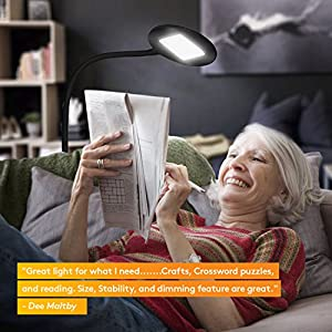 Brightech Contour Flex LED Floor Lamp for Reading, Crafts & Office Tasks – Adjustable Gooseneck & Bright, Dimmable Light Goes Beside Living Room Sofa- Contemporary Minimalist Pole Light - Black