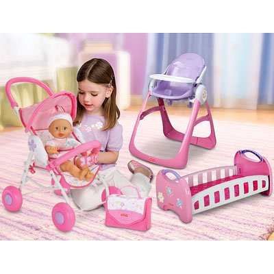 Fisher Price Baby Stroller Pink - 3