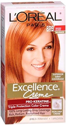 L'Oréal Paris Excellence Créme Permanent Hair Color, 8RB Medium Reddish Blonde (Blonde Strawberry)