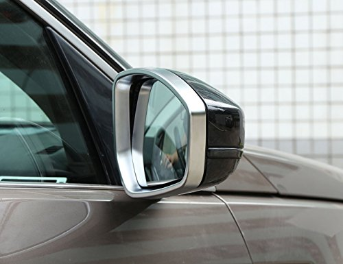 ABS Chrome Side Rearview Mirror Frame Cover Trim Accessories For Land Rover Range Rover Evoque 2014-2017,Jaguar F-pace X761 (Accessories Rover Range Chrome)