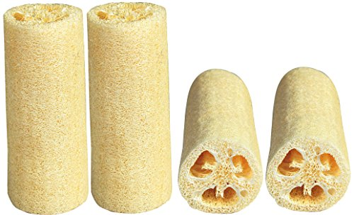 LUXEHOME Loofah Sponge, 4 Pack, Large 6