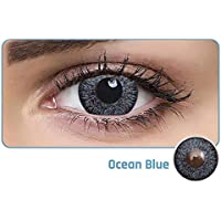 Aqua Color Daily Disposable Color Contact Lens (10 Lens/Box/Plano) (Ocean Blue, 0.00)