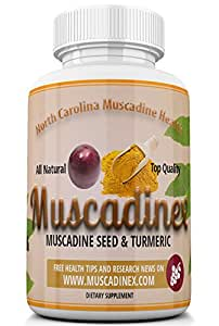 MX4 Joint & Prostate Health. Turmeric Curcumin Plus Muscadine Grape Resveratrol. 500mg x 60 Vegetarian Capsules. Made in US Quality.