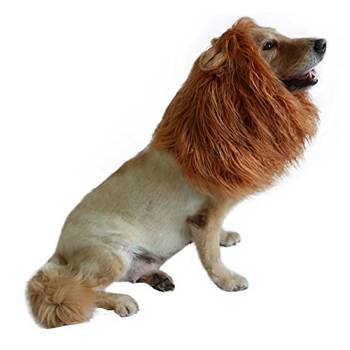 Lion Mane for Dog-Dog Costume DIBBATU Lion Wig for Large or Medium Dogs Halloween Christmas Gift Fancy Hair (Red (Dog Halloween Costumes Golden Retriever)